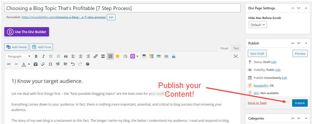 How to Publish a Blog Post