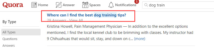 Market Research Dog Finding Tips