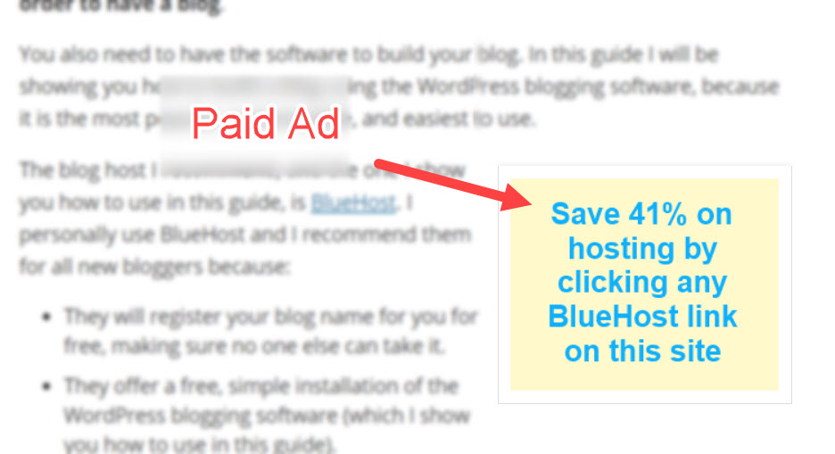 Blog Monetization via Paid Ad