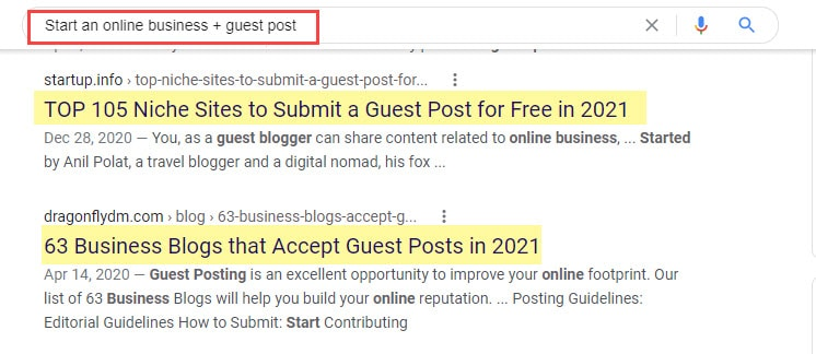 Using search operators to find guest posting opportunities